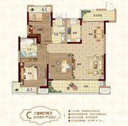 新城·悦府C户型3室2厅120㎡