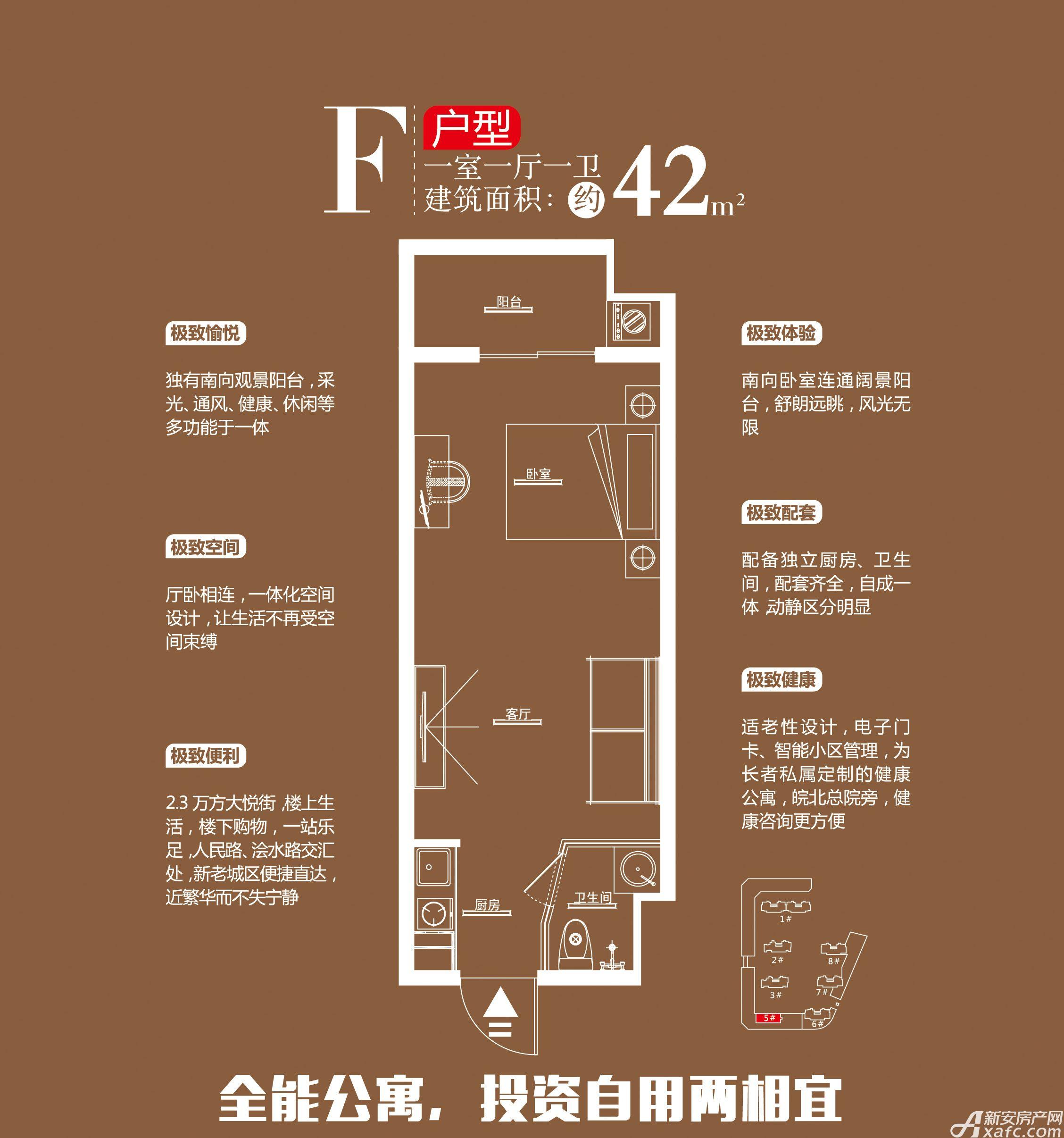 锦润悦府F1室1厅42平米