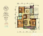 万成·哈佛玫瑰园玫瑰园洋房A5-7户型3室2厅138㎡