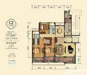 万成·哈佛玫瑰园玫瑰园洋房C2户型3室3厅172㎡