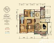 万成·哈佛玫瑰园玫瑰园洋房C5-7户型3室3厅165㎡