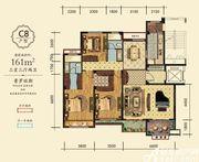 万成·哈佛玫瑰园玫瑰园洋房C8户型3室3厅161㎡