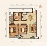滨江壹号院C户型3室2厅108㎡
