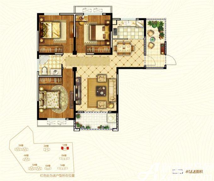 银湖福安家园D13室2厅118平米