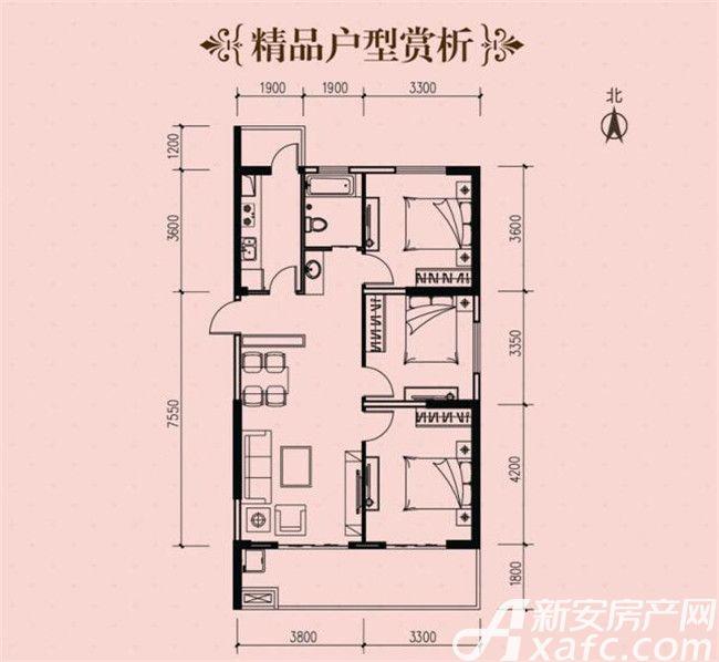 铜化弘宇嘉城A-13室2厅111平米
