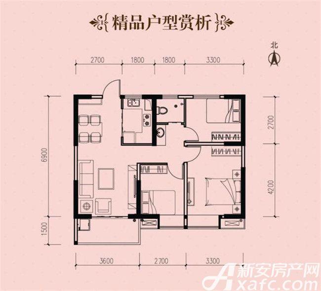 铜化弘宇嘉城A-23室2厅88平米