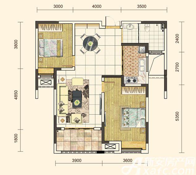 地矿龙山湖苑G-B22室2厅101平米