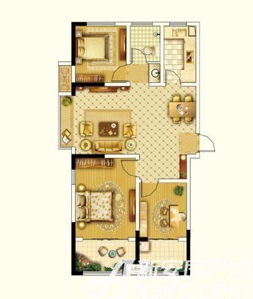 圣联锦城C户型104㎡3室2厅104平米