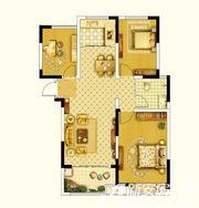 圣联锦城E户型为103㎡3室2厅103㎡