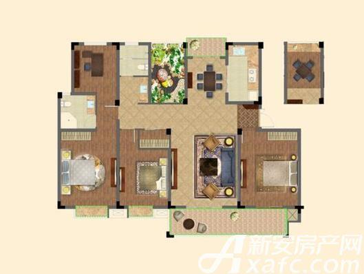 优诗美地G户型4室2厅178平米