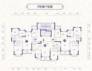 恒大御景1号楼户型3室2厅129.74㎡