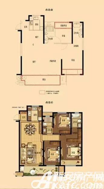 宣城中梁壹号院高层D1户型3室2厅120平米