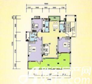三一亚龙湾H2/01户型3室2厅130.03平米