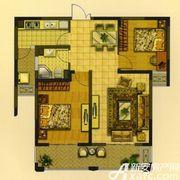 华夏湖畔御苑A2户型2室2厅88.02㎡