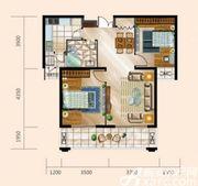 舟基金色家园B户型2室2厅91.8㎡