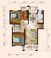 舟基金色家园C户型3室2厅123㎡