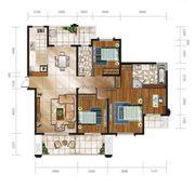 舟基金色家园G户型4室3厅177㎡