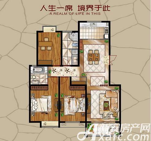 长江公园国际B户型3室2厅140.08平米