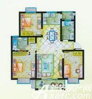 盛宇湖畔C1户型3室2厅105.5㎡