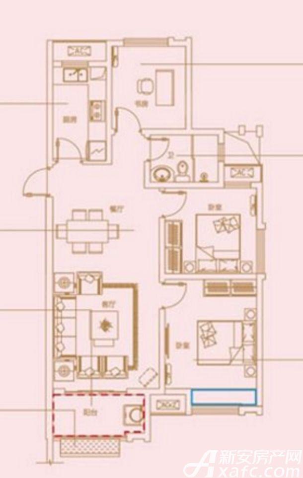琥珀新天地琥珀新天地A户型3室2厅97.98平米