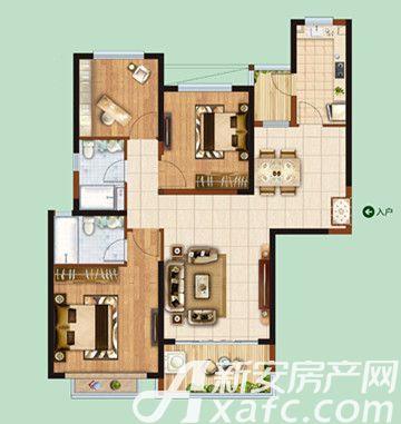 恒大绿洲033室2厅121.92平米