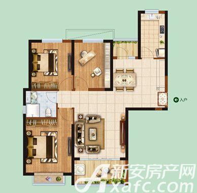 恒大绿洲01/033室2厅110.59平米