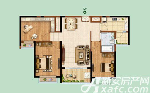 恒大绿洲023室2厅110.47平米