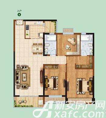 恒大绿洲55#02/033室2厅129.93平米
