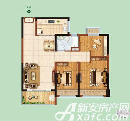恒大绿洲40#41#033室2厅91.15平米