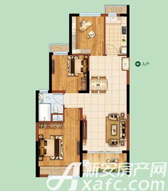 恒大绿洲40#41#01/043室2厅89.02平米