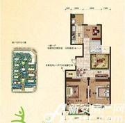 翡翠豪庭C1户型2室2厅108.43㎡