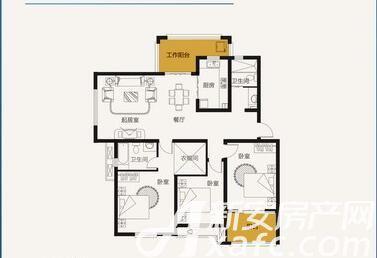 山鹰双城汇E43室2厅139平米