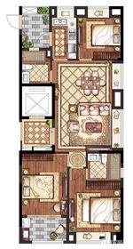 置地·康熙左岸高层118平米3室2厅118㎡