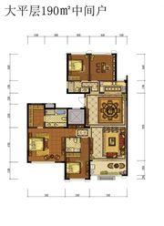 蓝光雍锦半岛大平层190㎡中间户4室2厅190㎡