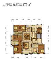 蓝光雍锦半岛大平层标准层5室2厅275㎡
