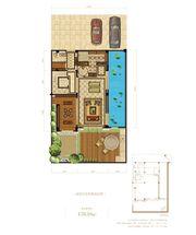 蓝光雍锦半岛448㎡别墅花园首层2厅178.16㎡