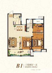 众发·阳光水岸B1户型3室2厅100.85㎡