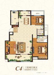 众发·阳光水岸C4户型3室2厅117.63㎡