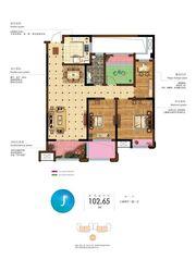 和顺名都城13#b4户型3室2厅102.65㎡