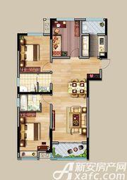 中航长江广场9#楼A户型3室2厅126.96㎡