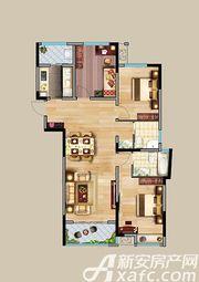 中航长江广场9#楼A'户型3室2厅125.8㎡