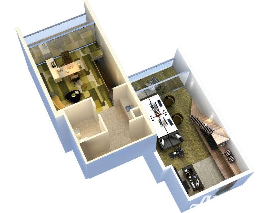 复地南都荟A户型2室1厅42平米