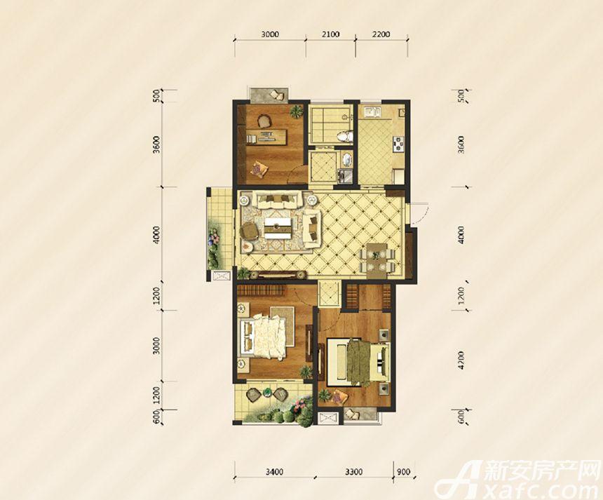 御溪雅苑D户型3室2厅117平米