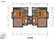 和煦·芙蓉澜山A户型三层2室2厅85.202㎡