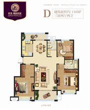 栖凤名城洋房D3室2厅116㎡