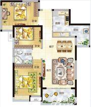 东菱城市新地02户型3室2厅105㎡