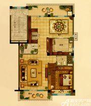 碧桂园•钻石湾上叠198㎡户型下层1室2厅198㎡