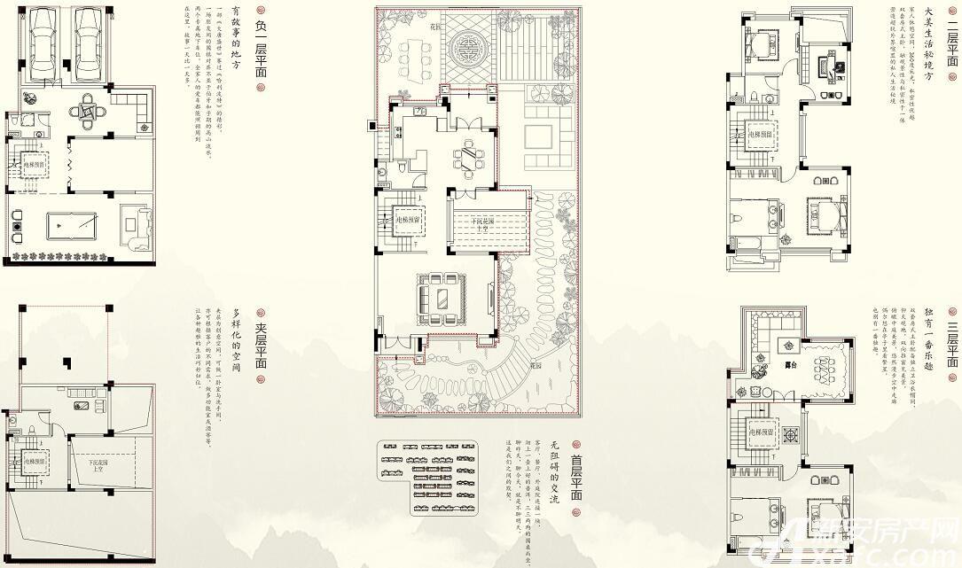 珠江翰林雅院青云别墅(C)6室3厅219平米