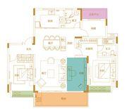 鹭山湖Y2户型4室2厅140㎡