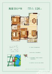 玉龙湖畔高层B43室2厅126㎡